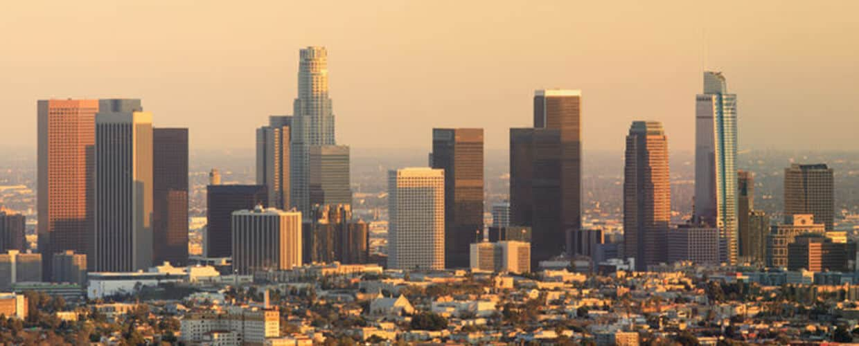 Los Angeles Skyline, The Barnes Firm offices across California