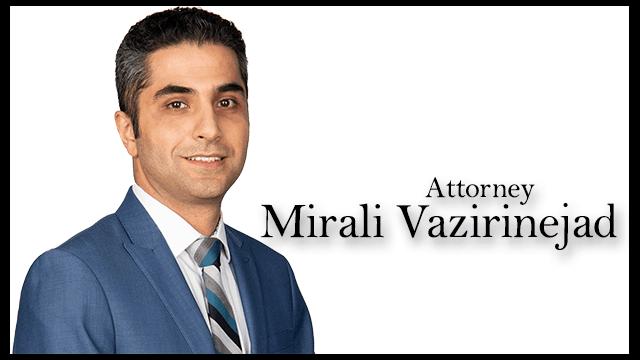 San Francisco Personal Injury Lawyer Mirali Vazirinejad
