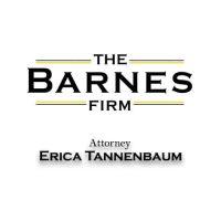the barnes firm logo with attorney erica tannenbaum