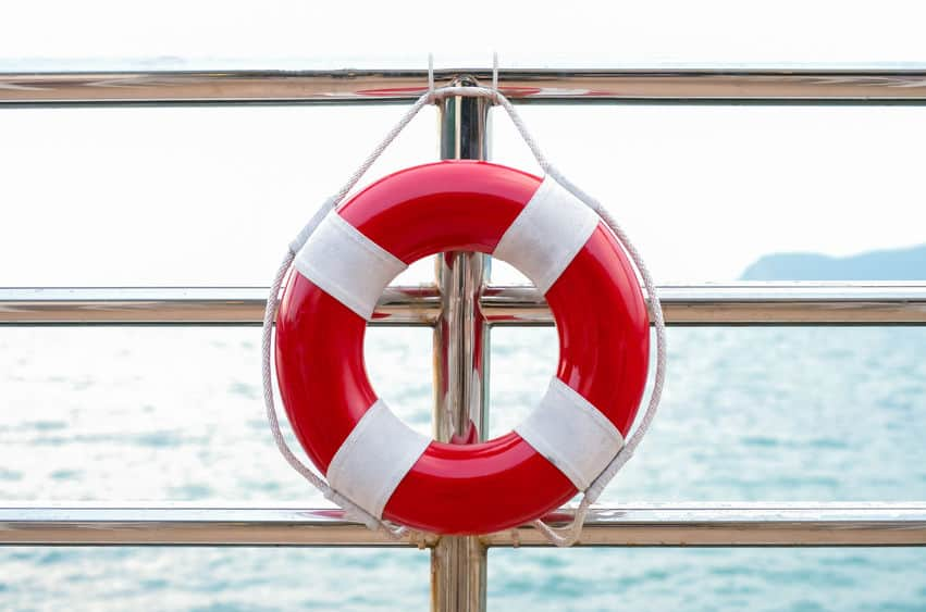 life preserver attached to a cruise ship