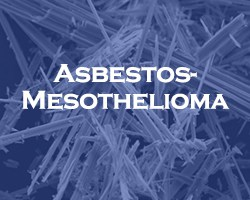 asbestos - mesothelioma -- blue overlay on a microscopic view