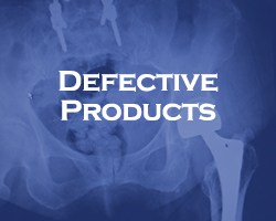 Defective Products - blue overlay on an x-ray of someone's pelvis