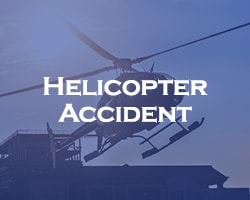 Helicopter Accident - blue overlay on a helicopter taking off