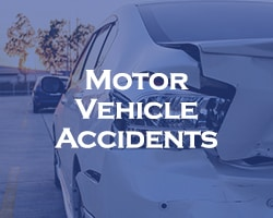motor vehicle accidents -- blue overlay on a car that was rearended