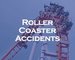 Roller Coaster Accidents - blue over a rollercoaster
