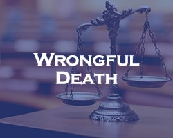 Wrongful Death - blue over legal scales